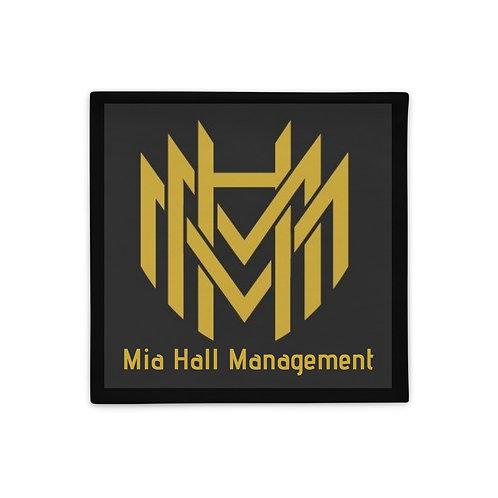 MHM Black & Gold Logo Pillow Case