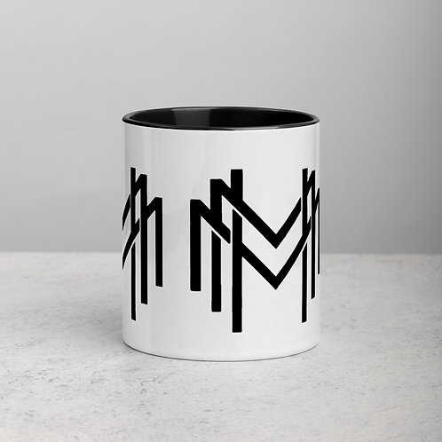 MHM Logo Designer Coffee Mug with Accent Color