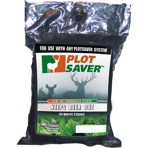 Plotsaver Cips for Fiberglass Stakes, 30 Pack