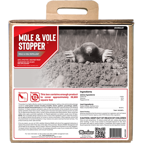 Mole & Vole Stopper 40lb Granule Bulk Box