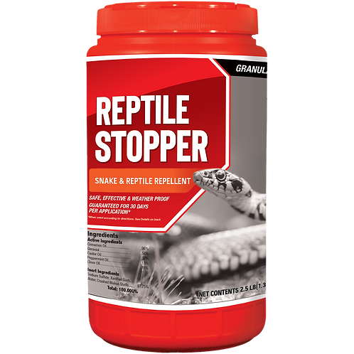 Reptile Stopper Animal Repellent, 2.5# Ready-to-Use Granular Shaker