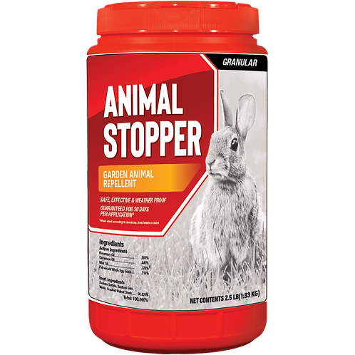 Animal Stopper Animal Repellent, 2.5# Ready-to-Use Granular ShakerJug