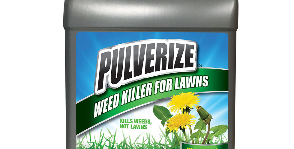 PULVERIZE® Weed Killer for Lawns 1 Gallon Refill Ready to Use
