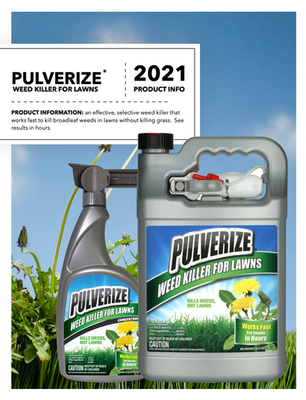 Pulverize Weed Killer for Lawns Flyer
