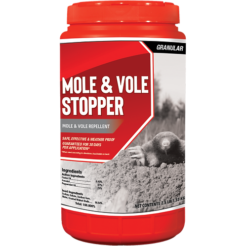 Mole & Vole Stopper Animal Repellent, 2.5# Ready-to-Use Granular ShakerJug