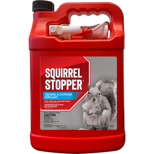 Squirrel Stopper Animal Repellent, Gallon Ready-to-Use with Nested Sprayer