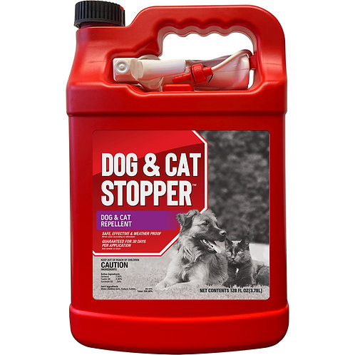 Dog & Cat Stopper Animal Repellent, Gallon Ready-to-Use with Nested Sprayer