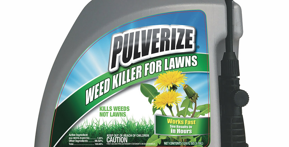 PULVERIZE® Weed Killer for Lawns 128oz Pump Sprayer