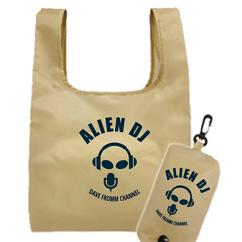 Alien Eco Bag [Natural] & Pocket Eco Bag [Navy]