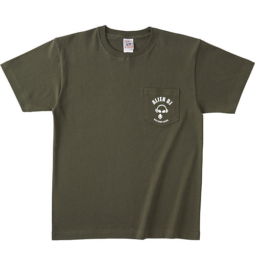 Pocket ALIEN DJ T-Shirt!![Khaki]