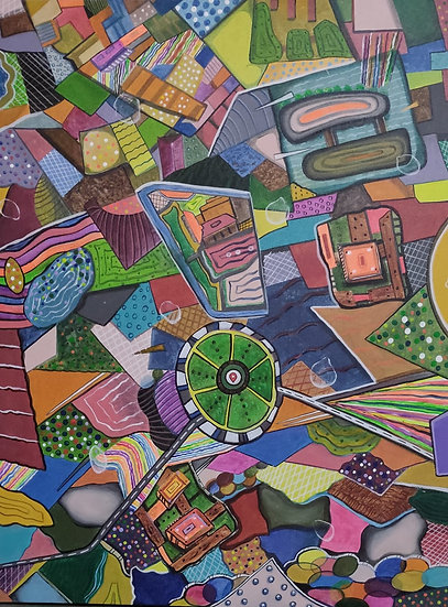 LANDSCAPE {a bird eye view}-III | Medium- Acrylic on canvas | Size- 30 x 40 inch