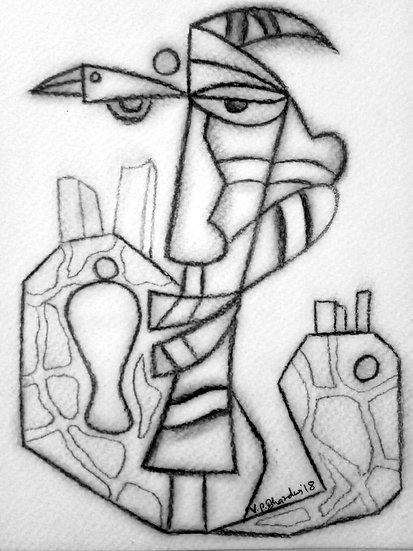 VED PRAKASH BHARDWAJ | DRAWING-2 | Pencil on paper | 8.3 X 5.7 inch.