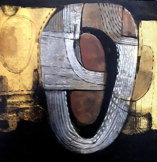 KISHOR ROY | Something else1 | Acrylic on canvas | 12x13 inch