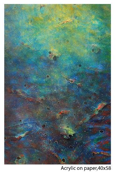 LANDSCAPE-II | Medium- Acrylic on Paper | Size- 32 x 45 inch