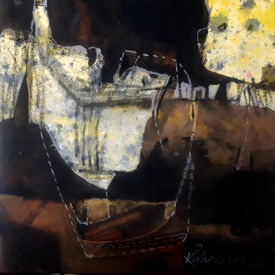 KISHOR ROY  | Something else-3 | Acrylic on canvas | 12 X 12 inch