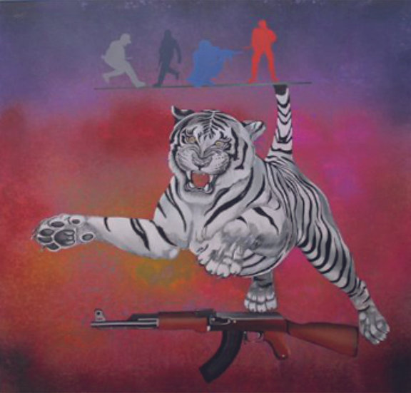 UNTILED- II   Medium- Acrylic on Canvas   Size- 48 x 48 inch