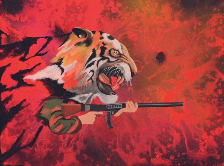 UNTITLED- I | Medium- Acrylic on Canvas | Size- 36 x 48 inch