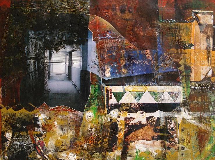 SUSHIL NIMBARK | UNTITLED- II | MIX MEDIA ON CANVAS | 90 X 75 CM