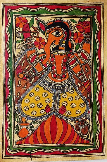 Madhubani Painting   Size- 11 x 7.5 inch