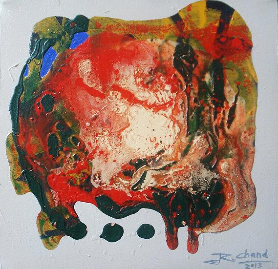 UNTITLED-II | Size-12 X 12 inch | Medium- Mix Media on Canvas