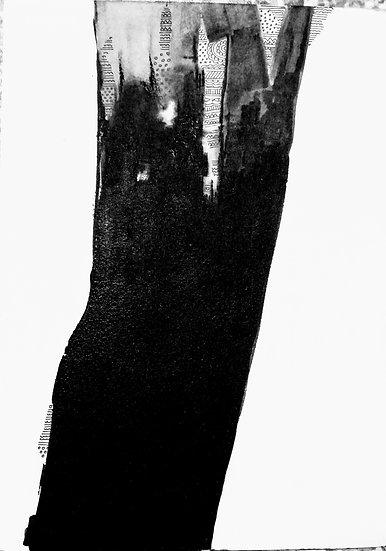 MEENAKSHI JHA BANERJEE   Cherish Darkness in me    9 x 12 inch