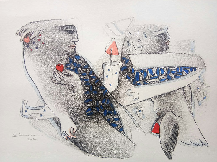MOHAMMED SULEMAN   Untitled-2    Mixed media ON Paper, 8 X 12