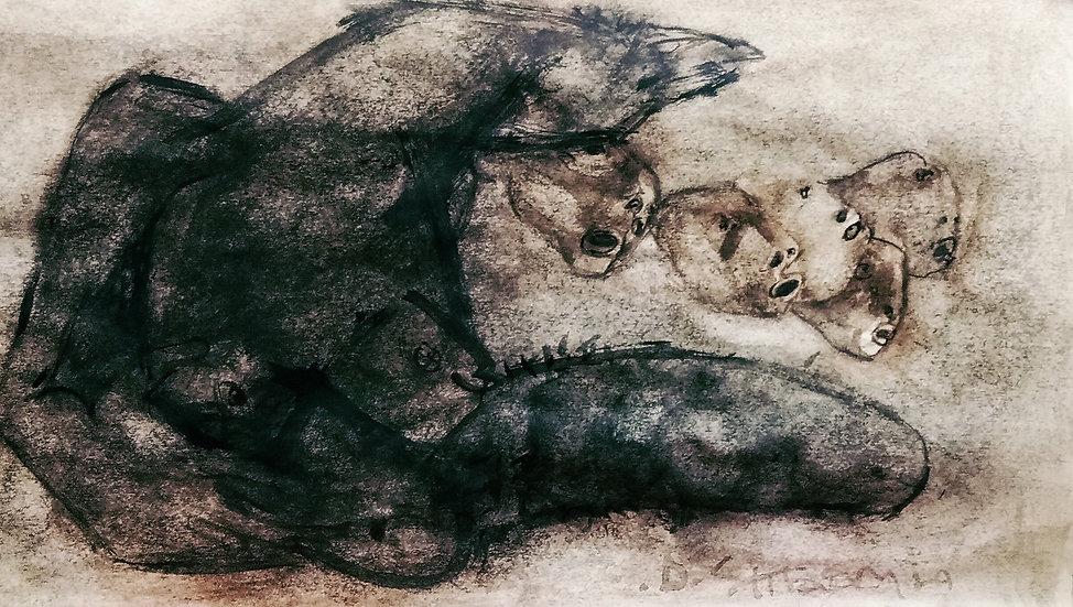 DILIP KUMAR SHARMA | Adhyay Shunya | Watercolour | 6 X 8 inch