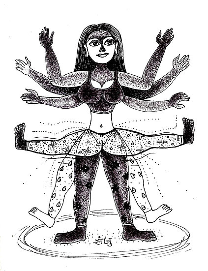 SANJU DAS | DRAWING-3 | Pen and ink on Paper | 9.2 X 12 Inch