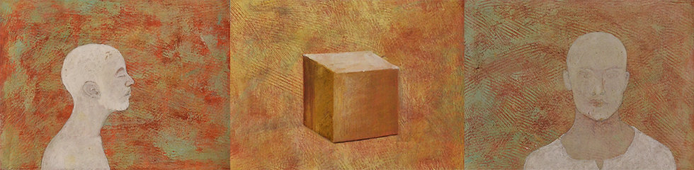 OUT OF BOX | Medium- Acrylic on Paper | Size- 22.6 x 5.6 inch