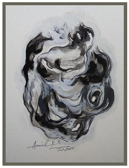 ANIL KUMAR SINHA | Wildlife drawing 3 | Acrylic colour on paper | 10 x 12 inch