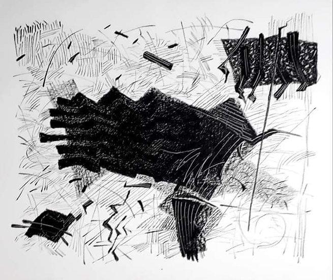 HARMONY- A   Medium- Oil Pastel on Art paper   Size- 25.5 x 29.5 inch