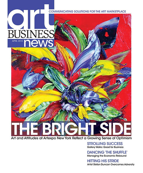 Art Business News, ABN magazine cover and article on Renea Menzies