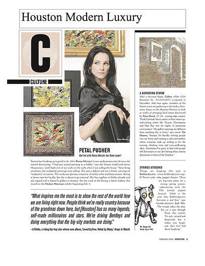 Houston Modern Luxury magazine. Best of the city publication magazine Renea menzies