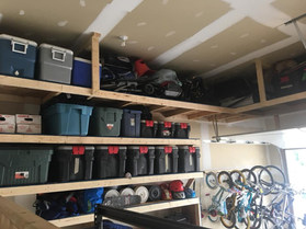 Custome garage shelving