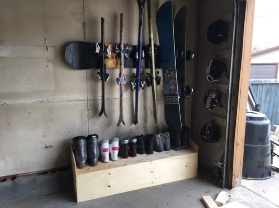 Kids equipment storage