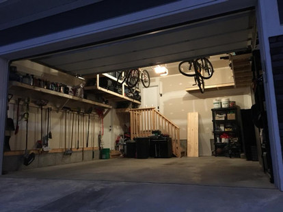 Organized garage shelving Calgary