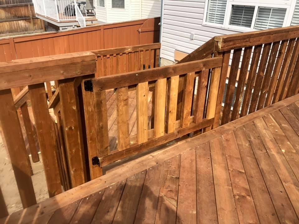 dog gates on deck