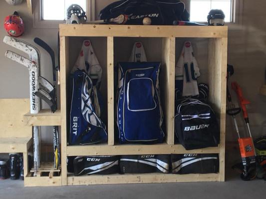 Sports bag storage