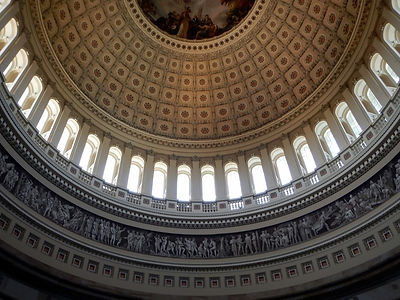 US Capitol Rotunda dome upper interior d
