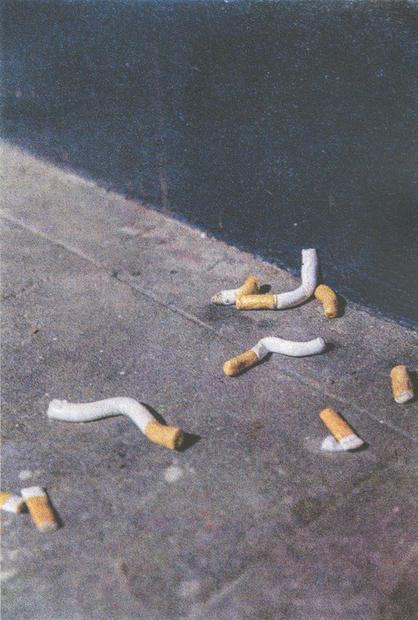 Cigarretes, screenprint, 40 x 60 cm