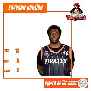 Player of the Game - Sayvonn Houston - 3