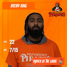 Player of the Game - Avery King - at NY