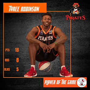 Player of the Game - Tyree Robinson - at