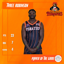 Player of the Game - Tyree Robinson - vs