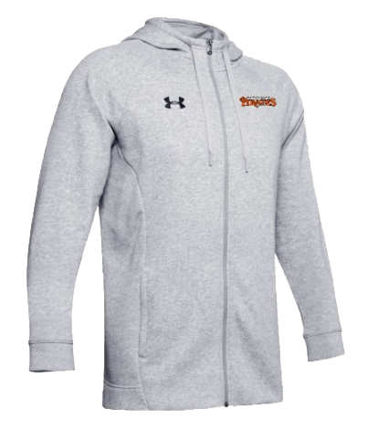 UA Hustle Fleece Full Zip Hoodie