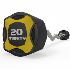 Mighty urethane curl barbell yellow.jpg