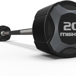Mighty urethane straight barbell gray.jp