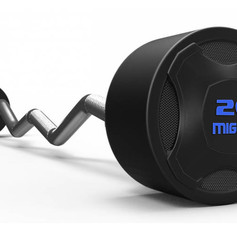 Mighty rubbered curved barbell BLUE.jpg