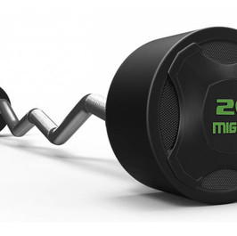 Mighty rubbered curved barbell Green.jpg