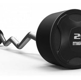 Mighty rubbered curved barbell.png